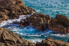 岩石阿里卡智利海岸线 图库摄影
