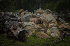 岩石陆运 图库摄影