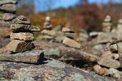 岩石雕塑庭院 免版税库存照片