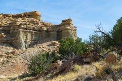 岩石露出在西南的沙漠 库存图片