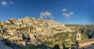 岩石露出的一个城市和窑居复合体被雕刻的 免版税库存照片