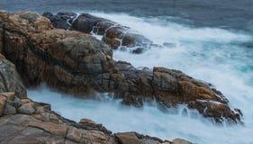岩石露出,阿尔巴尼 库存照片