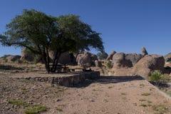 岩石露营地城市 库存照片
