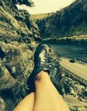 岩石鞋子 库存照片