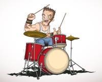 岩石音乐家鼓手 免版税库存照片