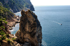 岩石风帆 库存照片