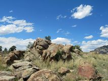 岩石风景在科罗拉多 库存图片