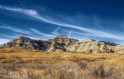 岩石风景在荒地 库存图片
