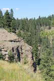 岩石风景墙壁的侵蚀 免版税库存图片