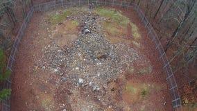 岩石鹰肖象土墩顶视图  库存照片