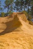 岩石黄色 图库摄影