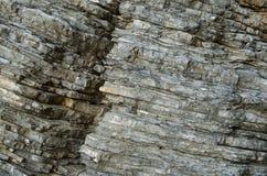 岩石,古老沉积层数的背景  库存照片