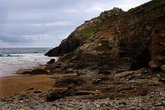 岩石,教堂Porth 库存照片