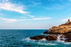 岩石,海视图,釜山 免版税库存图片