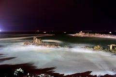 岩石巴伊亚Inglesa海滩,阿塔卡马,智利 免版税库存图片