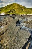 黑岩石- Salika野生生物储备 免版税图库摄影