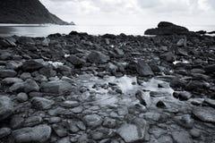 岩石B&W 免版税库存图片
