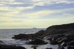 岩石Marak海岛  库存图片