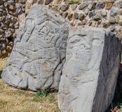 岩石Monte奥尔本考古学站点瓦哈卡墨西哥 免版税库存照片