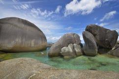 岩石stune belitung海岛 图库摄影