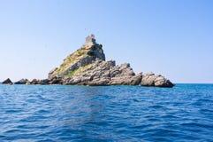 岩质小岛 免版税图库摄影
