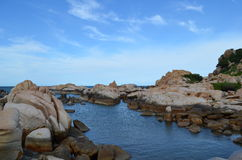 岩质岛 免版税库存图片