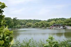 岳阳市,湖南中国 库存照片
