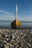 岸上小船 库存照片
