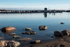 岸和船坞 免版税库存照片