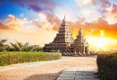 岸寺庙在印度 库存照片