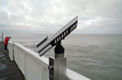 岸望远镜 库存照片