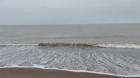 岸海浪浪花海洋海滩 股票视频