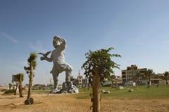 岸的公园和Khalij-e Fars街道在布什尔市或者Bushire,伊朗 免版税库存图片