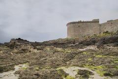 岸的看法从圣徒malo的 免版税图库摄影