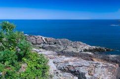 从岸的看法 免版税库存照片