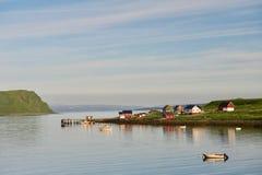 峡湾在北挪威 免版税库存图片