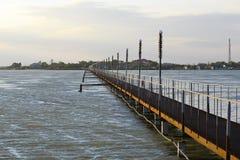 峡湾在黑海,乌克兰附近的傲德萨地区 免版税图库摄影