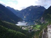 峡湾挪威 库存照片