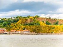 峡湾的海岸  爱丁堡,苏格兰 免版税库存图片