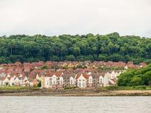 峡湾的海岸  爱丁堡,苏格兰 库存图片