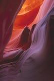 峡谷五颜六色的形成 免版税库存照片