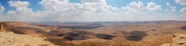 峡谷以色列全景ramon 免版税库存图片