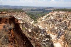 峡谷侵蚀的美丽的景色在储备Tsingy Ankarana,马达加斯加犁, 免版税库存照片