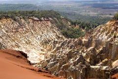 峡谷侵蚀的美丽的景色在储备Tsingy Ankarana,马达加斯加犁, 库存照片