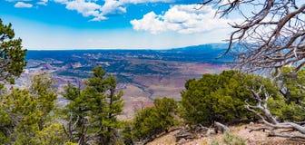 峡谷俯视恐龙国家历史文物 库存照片