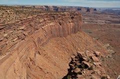 峡谷俯视 免版税图库摄影