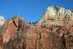 峡谷俯视zion 库存照片