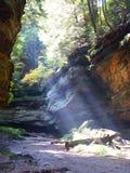 峡谷光束 库存图片