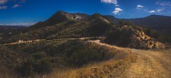 峡谷全景红色岩石 免版税库存照片