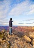 峡谷全部俯视 免版税库存照片
